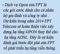 Dịch vụ GPON của FPT