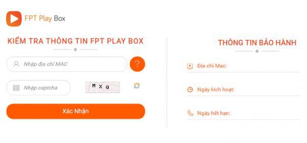 Hướng dẫn xem thông tin MAC FPT Play Box: